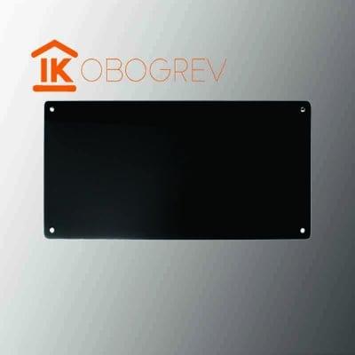 Стеклянный инфракрасный обогреватель SunWay SWG 450 (черный)