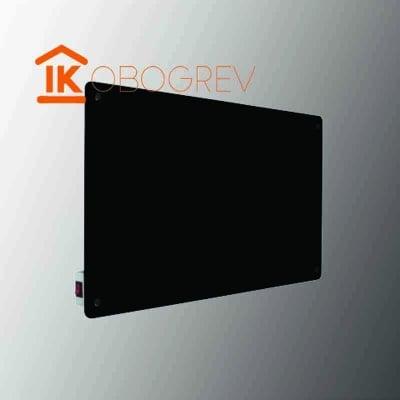 Стеклянный инфракрасный обогреватель SunWay SWG-450 (черный) с выключателем