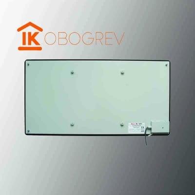 Стеклянный инфракрасный обогреватель SunWay SWG 450 (черный) вид сзади
