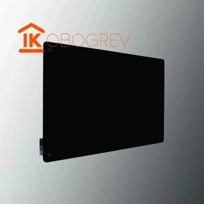 Стеклянный инфракрасный обогреватель SunWay SWG-450 (черный) с регулятором
