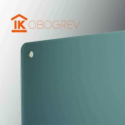 Стеклянный инфракрасный обогреватель SunWay SWG 450 (серый) угол