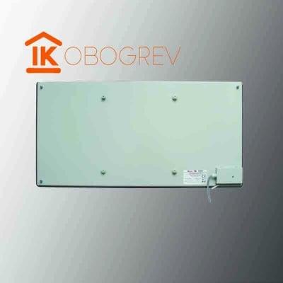 Стеклянный инфракрасный обогреватель SunWay SWG 450 (серый) вид сзади