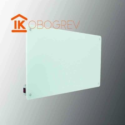 Стеклянный инфракрасный обогреватель SunWay SWG-450 (белый) с выключателем