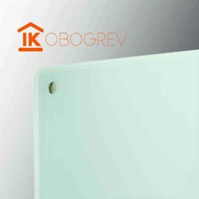 Стеклянный инфракрасный обогреватель SunWay SWG 450 (белый) угол