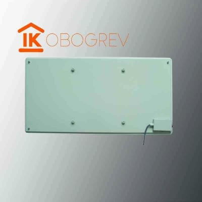 Стеклянный инфракрасный обогреватель SunWay SWG 450 (белый) вид сзади