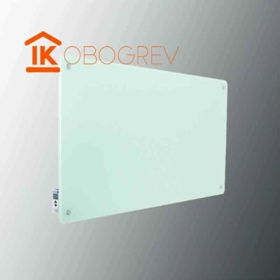 Стеклянный инфракрасный обогреватель SunWay SWG-450 (белый) с регулятором