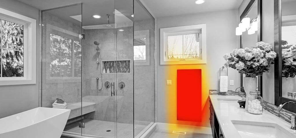 ИК обогреватель в ванной комнате