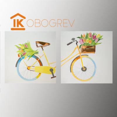 Инфракрасный дизайн обогреватель UDEN-S - 8 марта (диптих)