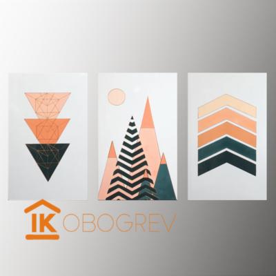 Инфракрасный дизайн обогреватель UDEN-S - Енергія (триптих)