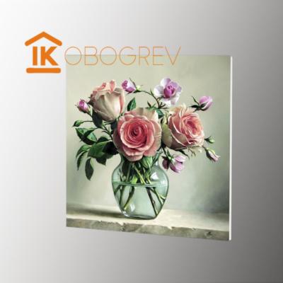 Инфракрасный дизайн обогреватель UDEN-S - Садовые розы сбоку