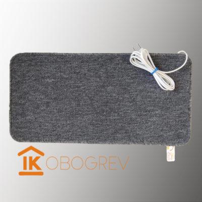 Коврик с подогревом ТепЛесик (ковролин) 30х60 серый
