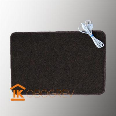 Коврик с подогревом ТепЛесик (ковролин) 40х60 brown